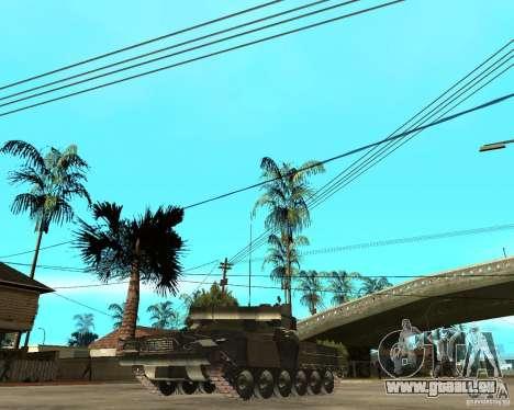 T-80U pour GTA San Andreas sur la vue arrière gauche