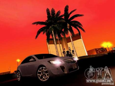 Opel Insignia pour GTA San Andreas vue de dessus