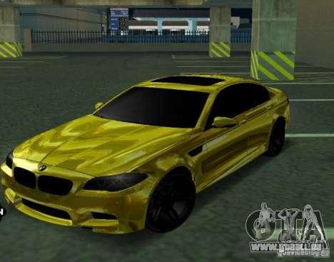 BMW M5 F10 Gold pour GTA San Andreas