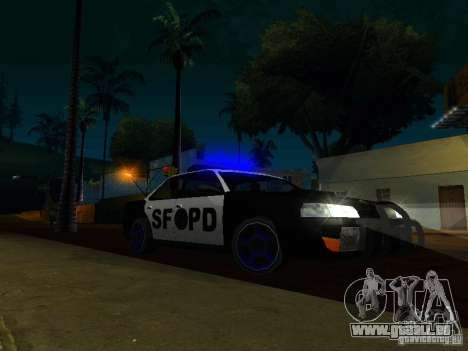 San-Fierro Sultan Copcar für GTA San Andreas Rückansicht