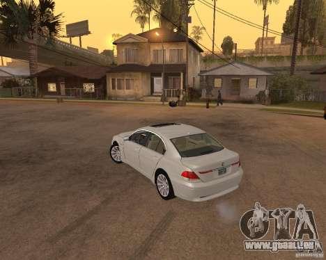 BMW 760I 2002 pour GTA San Andreas laissé vue