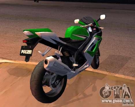 Suzuki 1000 Police für GTA San Andreas zurück linke Ansicht