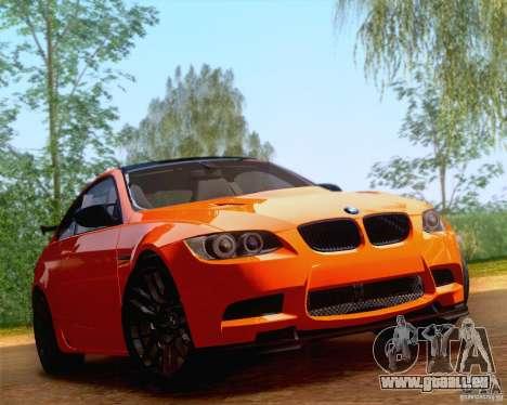 BMW M3 GT-S 2011 pour GTA San Andreas sur la vue arrière gauche