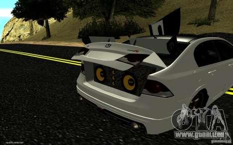 Honda Civic Type R pour GTA San Andreas salon