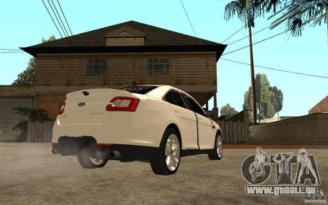 Ford Taurus 2010 für GTA San Andreas rechten Ansicht