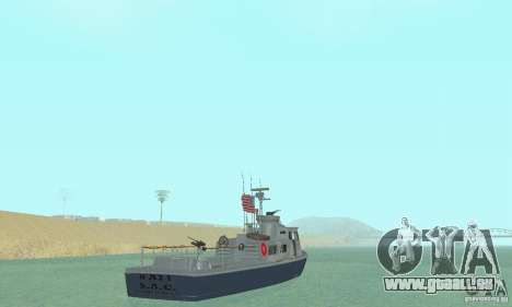 Coast Guard Patrol Boat für GTA San Andreas linke Ansicht