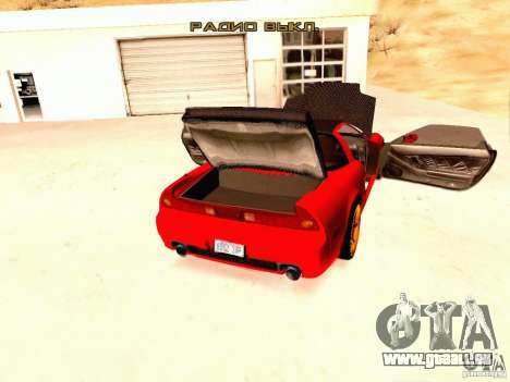 Acura NSX Stance Works für GTA San Andreas Rückansicht