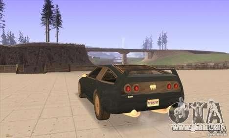 Deluxo HD pour GTA San Andreas sur la vue arrière gauche