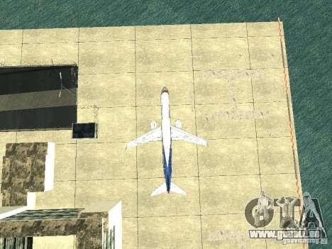 Embraer E-190 pour GTA San Andreas vue intérieure