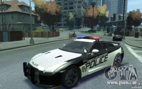 Nissan GT-R R35 Police pour GTA 4