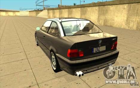 BMW E36 M3 - Stock pour GTA San Andreas sur la vue arrière gauche