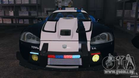 Dodge Viper SRT-10 ACR ELITE POLICE [ELS] pour GTA 4 est une vue de l'intérieur