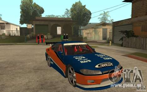 Nissan Silvia Drift für GTA San Andreas Rückansicht