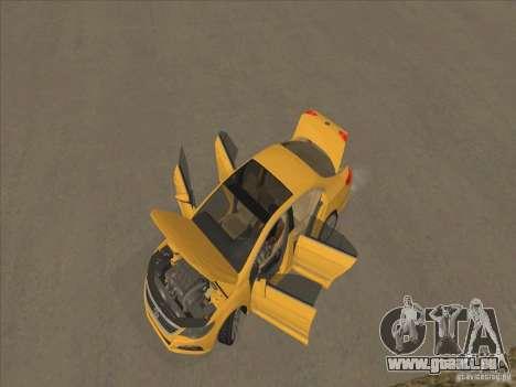 Volkswagen Passat CC pour GTA San Andreas vue de dessus