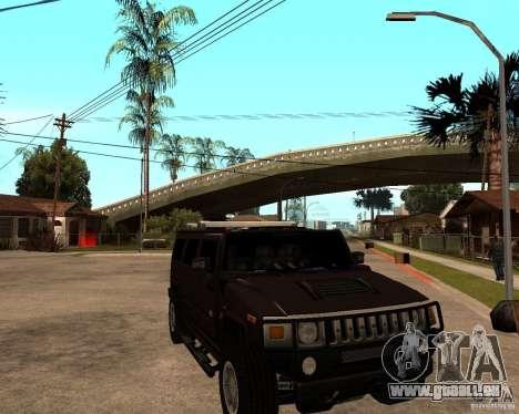 Hummer H2 SE pour GTA San Andreas vue arrière