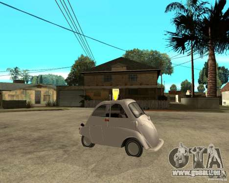 BMW Isetta pour GTA San Andreas vue de droite