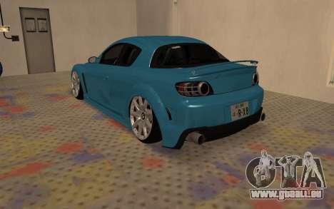 Mazda RX8 VIP pour GTA San Andreas sur la vue arrière gauche