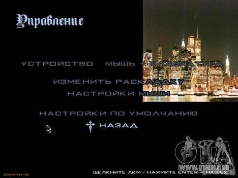 Nouveau menu dans le style de New York pour GTA San Andreas troisième écran