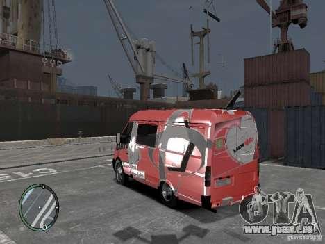 Gazelle 2705 Telkomsel Van für GTA 4 linke Ansicht