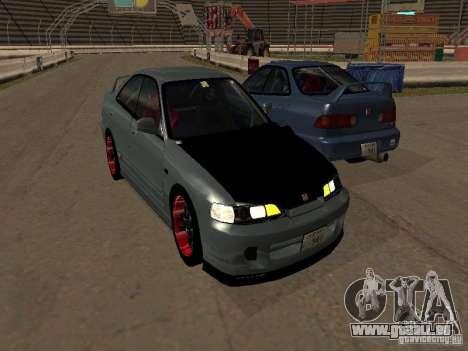 Honda Integra TypeR pour GTA San Andreas sur la vue arrière gauche