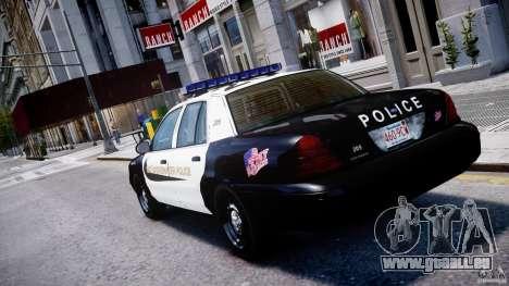 Ford Crown Victoria Massachusetts Police [ELS] für GTA 4 hinten links Ansicht