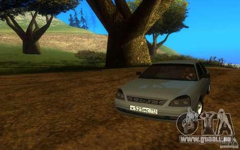 VAZ Lada Priora 2170 für GTA San Andreas zurück linke Ansicht