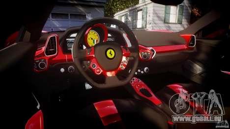 Ferrari 458 Italia Dub Edition für GTA 4 obere Ansicht