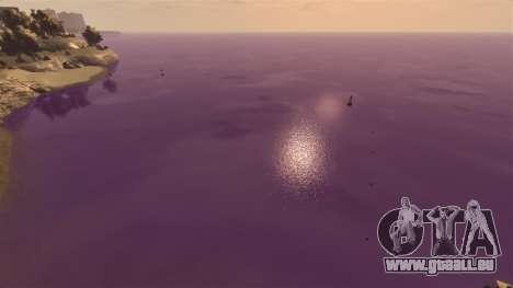 La couleur pourpre de l'eau pour GTA 4 troisième écran