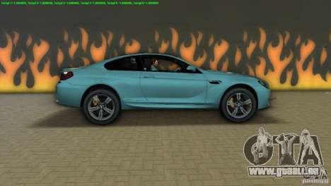 BMW M6 2013 pour une vue GTA Vice City de la gauche