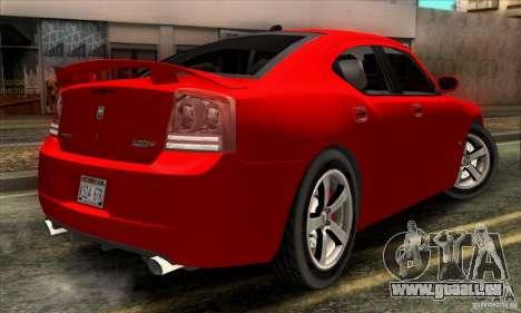 Dodge Charger SRT8 für GTA San Andreas zurück linke Ansicht