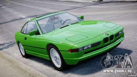 BMW 850i E31 1989-1994 pour GTA 4 est une vue de dessous