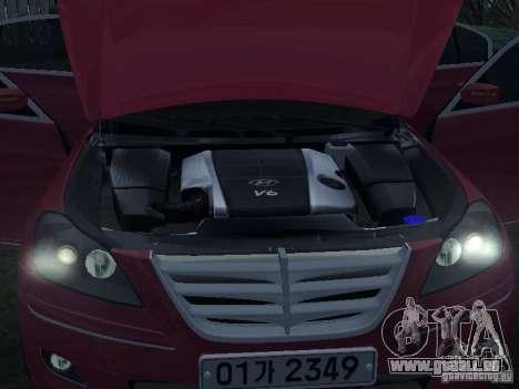 Hyundai Genesis für GTA San Andreas Seitenansicht