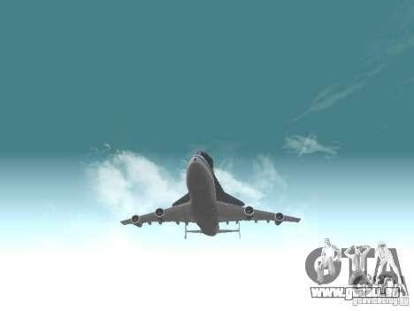 Boeing 747-100 Shuttle Carrier Aircraft für GTA San Andreas Rückansicht