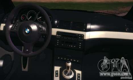 BMW M3 pour GTA San Andreas vue de dessus