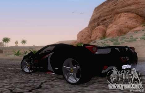 Ferrari F458 für GTA San Andreas rechten Ansicht