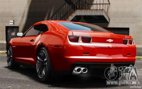 Chevrolet Camaro ZL1 v1.0 für GTA 4 Rückansicht