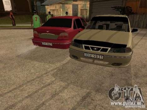 Daewoo Nexia pour GTA San Andreas vue de dessous