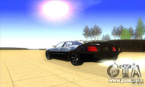 Dodge Charger From Fast Five für GTA San Andreas Rückansicht
