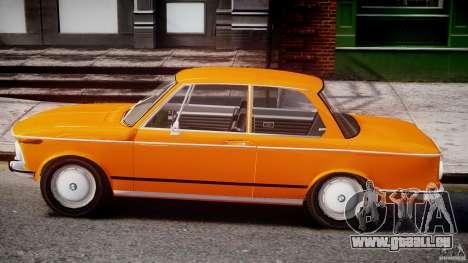 BMW 2002 1972 pour GTA 4 Vue arrière de la gauche