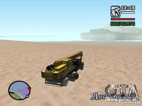 KrAZ-250 MKAT-40 für GTA San Andreas Seitenansicht