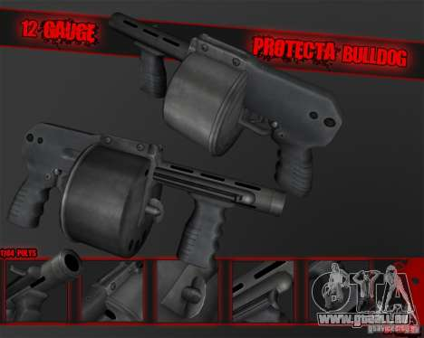 Protecta Bulldog pour GTA San Andreas deuxième écran