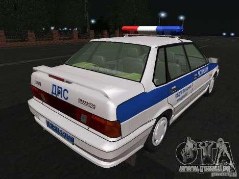 VAZ 2115 Polizei DPS für GTA San Andreas rechten Ansicht