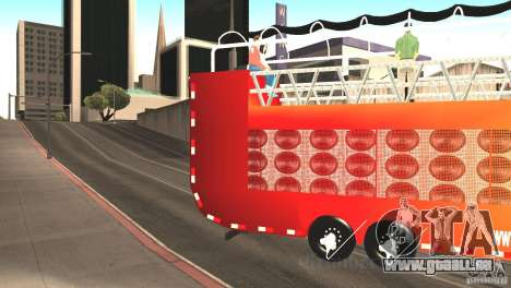 Scania 93H 6x2 Trio Eletrico für GTA San Andreas linke Ansicht
