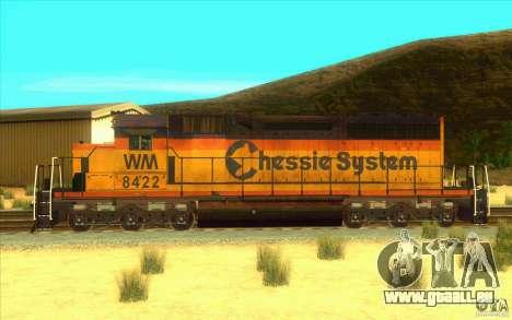 Chessie System sd40-2 für GTA San Andreas linke Ansicht