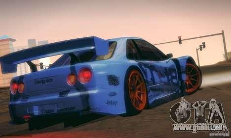 Nissan Skyline Touring R34 Blitz pour GTA San Andreas vue arrière