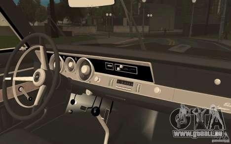 Plymouth Barracuda Formula S für GTA San Andreas Rückansicht