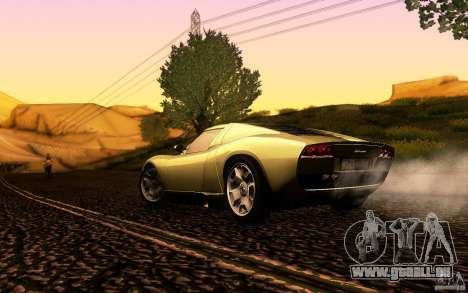 Lamborghini Miura Concept für GTA San Andreas obere Ansicht