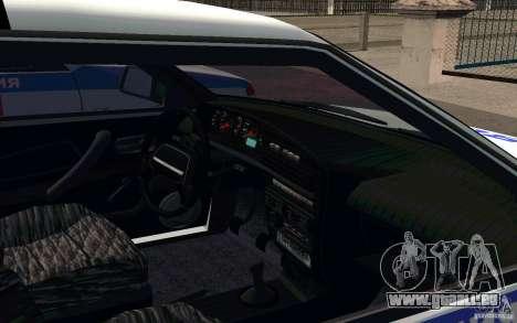 Vaz 2114 PSB Police pour GTA San Andreas vue arrière
