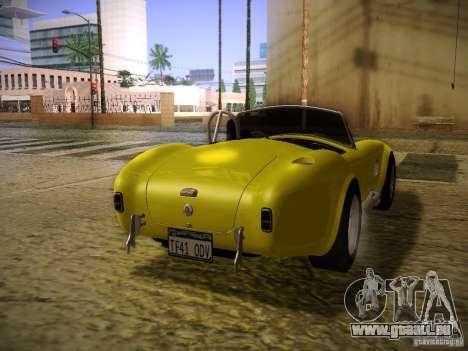 Shelby Cobra 427 pour GTA San Andreas laissé vue