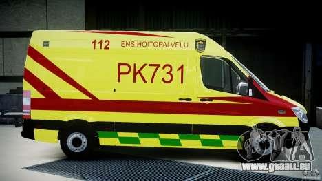 Mercedes-Benz Sprinter PK731 Ambulance [ELS] pour GTA 4 est une vue de l'intérieur